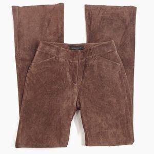 MODA INTERNATIONAL Women's Brown Suede Pants